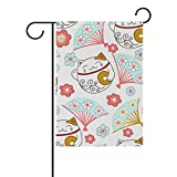 ALAZA U LIFE Cute Merry Christmas New Year Winter Cats Garden Yard Flag Banner for Outside House Flower Pot Double Side Print 40 x 28 Inch