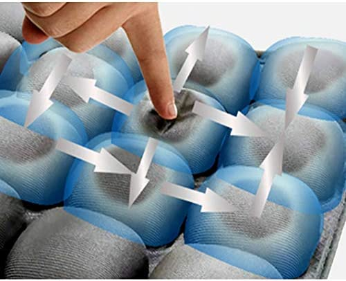 ZHONG Sitzkissen 3D Aufblasbares Kissen Anti-Rutsch-Dekompression Atmungsaktive Anti-Hämorrhoiden Lindert Steißbeinnervschmerzen, Die zu Hause, Im Büro, Im Rollstuhl(A)