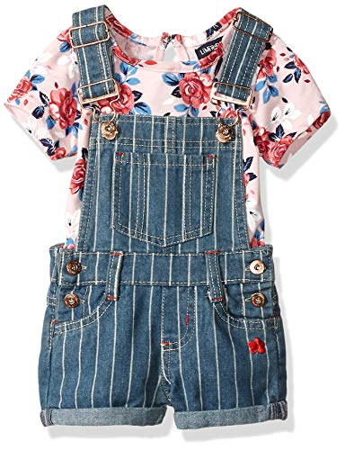 Limited Too Baby Girls Fashion Top and Short Set, Striped Coverall Floral el Multi Print, - Set Limited