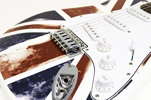 Jaxville ST1-GB - Guitarra eléctrica tipo ST, diseño de bandera de ...