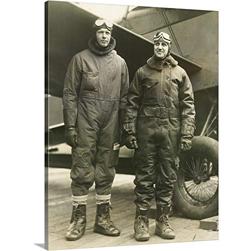 GREATBIGCANVAS Gallery-Wrapped Canvas Entitled Col. Charles A. Lindbergh and Harry F. Guggenheim in Flight-Suits by 30