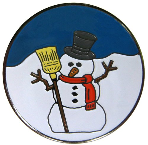 Snowman Golf Ball - Christmas & Holiday Golf Ball Markers Multiple Styles Available and Matching Christmas & Holiday Golf Hat Clips Available ... (Snowman)