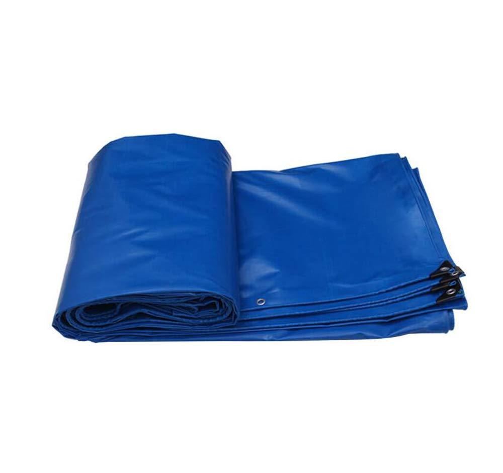 ブルーPVC防雨布、540 g/m 2、0.6 mm屋外防水防風防水シート、車のカバークロス、日除け日焼け止めと引き裂き抵抗性防水シート  8*5m