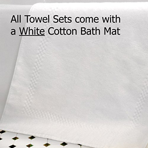 Waffle Weave Bath Towel Set with Bath Mat - Classic Style (White) by Gilden Tree (Image #2)