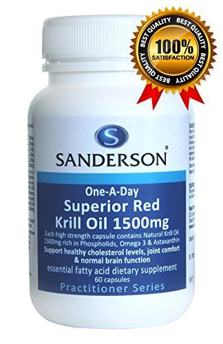 La plus grande dose par causalité !! La meilleure Supérieur Rouge Krill Oil 1500mg 60 caps. 2000mcg astaxanthine par capsule!