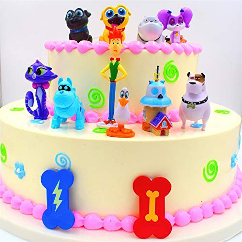 CHICHUN Puppy Dog Pals Doll Action Figures American PVC Kawaii Children Toys Cake Topper Decoration