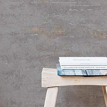 Papier peint industriel gris pierre b/éton vieilli m/étallis/é