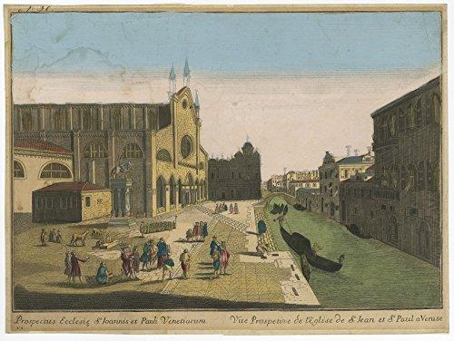 Antique Print-VENICE-BASILICA DI SAN GIOVANNI E PAOLO-OPTICAL PRINT-Anon-c. - Optical Venice