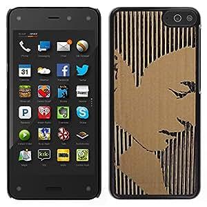 LECELL--Funda protectora / Cubierta / Piel For Amazon Fire Phone -- Retrato del hombre Stripes Arte --