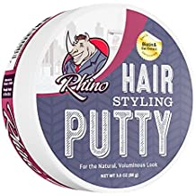 Rhino Premium Hair Styling Putty, 3 Ounces (Includes Biotin and Oat Extract)