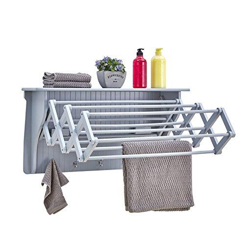 Danya B. Wall Mount Retractable Accordion Drying Rack–Grea