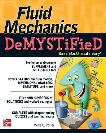 fluid mechanics demystified 1 merle potter amazon com