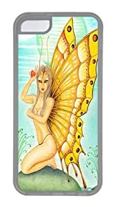 Butterfly Alien TPU Silicone Case Cover for iPhone 5C Transparent