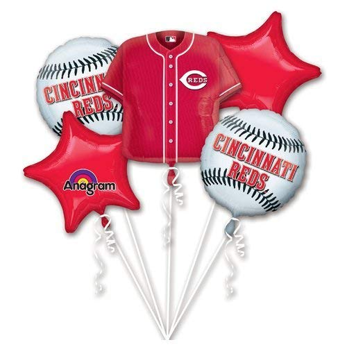 Anagram 32044 Cincinnati Reds Balloon Bouquet Multicolored