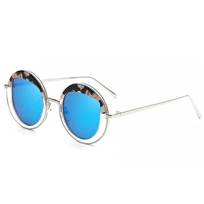 Meisijia Eyewear Donna rotonda personalizzata Occhiali da sole in metallo d'epoca jaYtWFm