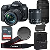 Canon EOS 7D Mark II 20.2 MP CMOS Digital SLR Camera with 3.0-Inch LCD with EF-S 18-55mm f/3.5-5.6 IS STM Lens and EF 75-300mm f/4-5.6 III Lens - Wi-Fi Enabled (Certified Refurbished)