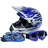 XFMT DOT Dirt Bike ATV Motocross Helmet w/Gloves + Goggles Size M/L/XL Adult
