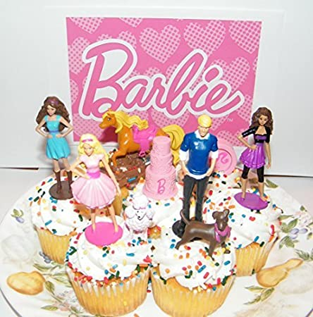 Barbie Ken And Friends Toy Doll Figure Birthday Cake Toppers Cupcake Party Favor Decorations Set Of 9 By Amazoncouk Kitchen Home