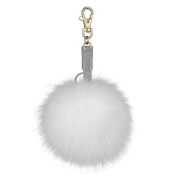Amazon.com: Brucewang - Cable cargador de llavero con bola ...