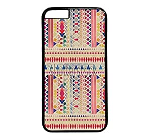 iPhone 4 4S Case, iCustomonline Colorful Chevron Stripe Pattern Designs Protective Hard Case Cover for iPhone 4 4S Black