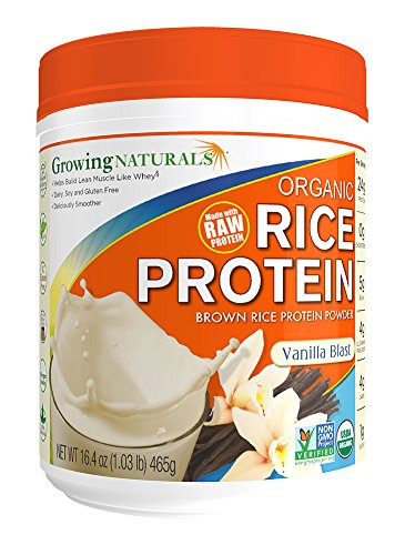 Growing Naturals Protein Isolat riz en poudre, vanille Blast, 16,4 once