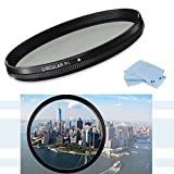 High Definition 67mm CPL Circular Polarizing Filter for Nikon 18-105mm, Nikon 18-140mm Nikon 18-300mm, Nikon 28mm f/1.8G, Nikon 35mm f/1.4G, Nikon 70-200mm & Nikon 70-300mm