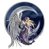 "Nene Thomas - Jumbo Fairy Moon Dark Sky Angel Wings Sticker - 8"" x 9.5"" - Weather Resistant, Long Lasting for Any Surface"
