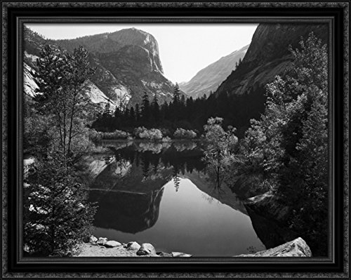 Mirror Lake, Morning, Yosemite National Park 34x28 Large Black Ornate Wood Framed (Mirror Lake Yosemite National Park)