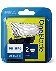 Philips QP220/50 Lames de Remplacement OneBlade x2 (Durent Jusqu'à 8 Mois)