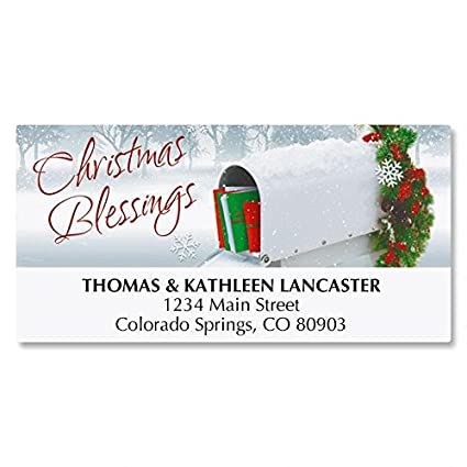 amazon com holiday delivery personalized christmas address labels