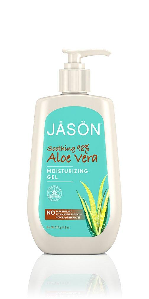 Jason Soothing Aloe Vera 98-Percent Gel with Pump 8 Fluid Ounces 04013