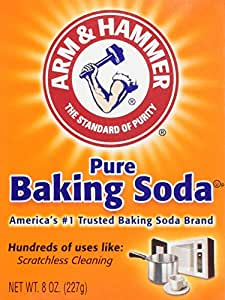 Arm & Hammer Pure Baking Soda, 8 Ounce (Single Pack)