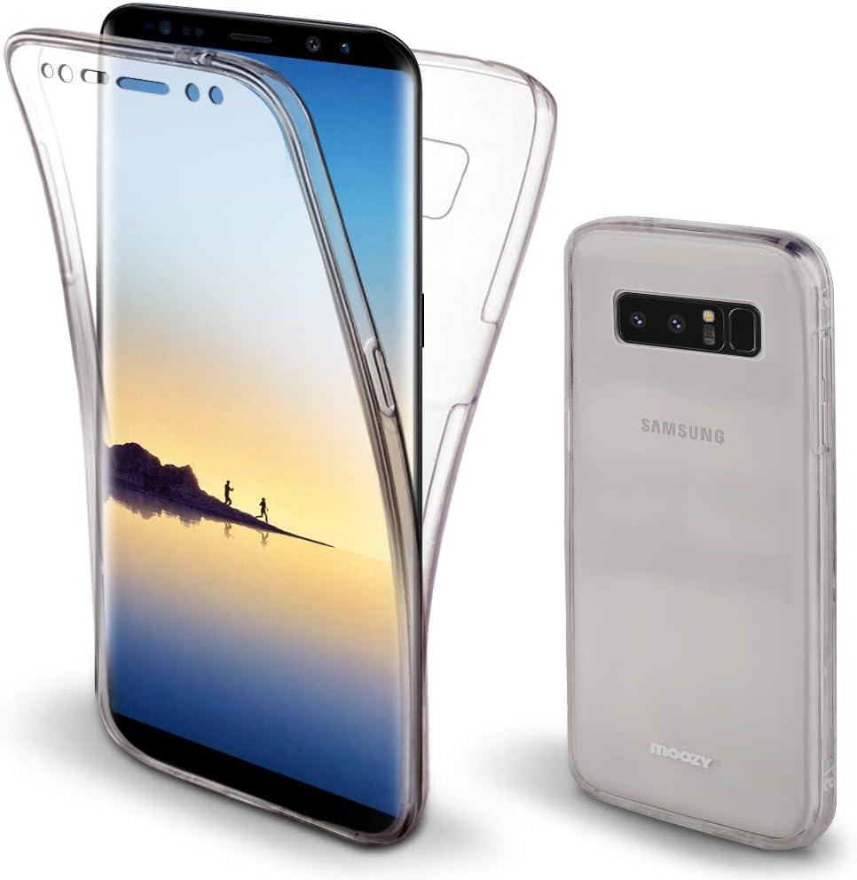 Moozy Funda 360 Grados para Samsung Note 8 Transparente Silicona: Amazon.es: Electrónica