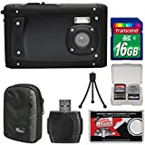 Coleman Venture HD C40WP Shock & Waterproof Digital Camera (Black) 16GB Card + Case + Reader + Tripod + Kit