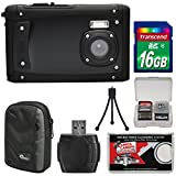 Coleman Venture HD C40WP Shock & Waterproof Digital Camera (Black) with 16GB Card + Case + Reader + Tripod + Kit