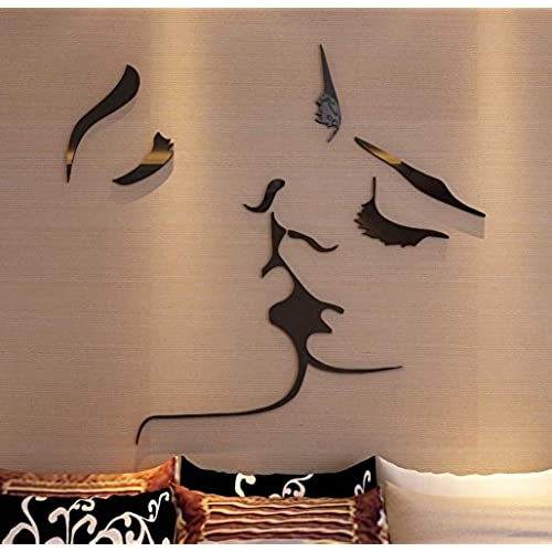 3d Kiss Wall Murals For Living Room Bedroom Sofa Backdrop Tv Wall  Background, Originality Stickers Gift, DIY Wall Decal Wall Decor Wall  Decorations