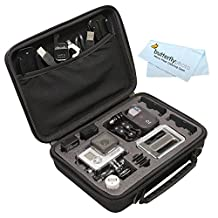 Vidpro Custom Case for GoPro, GoPro Hero, Hero2 Hero3, Hero3+, GoPro HERO4 Silver, GoPro HERO4 Black, GoPro HERO Action Camera and Accessories - For Travel / Home Storage - Complete Protection for Your GoPro