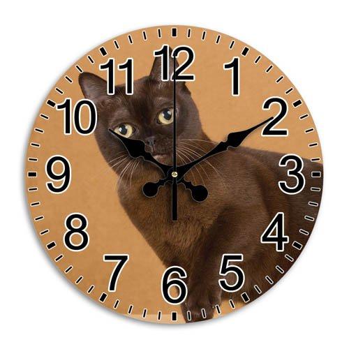 Monica M Joheson Round Wall Clock Frameless Arabic Numbers Silent Grace Time Custom Decorative Diameter 11.8 Inch