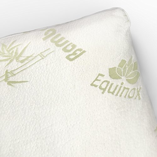 Equinox-International-QueenStandard-Size-17-X-25-Inches-Shredded-Memory-Foam-Pillow-with-Removable-Bamboo-Soft-Pillow-Case