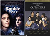 The Outsiders 2 Disc Special Novel Edition & Rumble fish 80's Francis Ford Coppola Matt Dillon Teen movie bundle S.E. Hinton Set