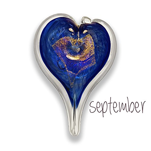 - Luke Adams Small Glass Heart September Birthstone