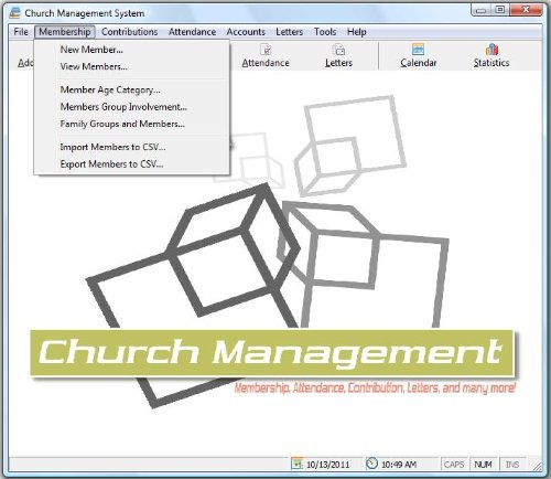 Church Management Software Professional System; Church Facilities, Office, Bookkeeping and Finances Administration...