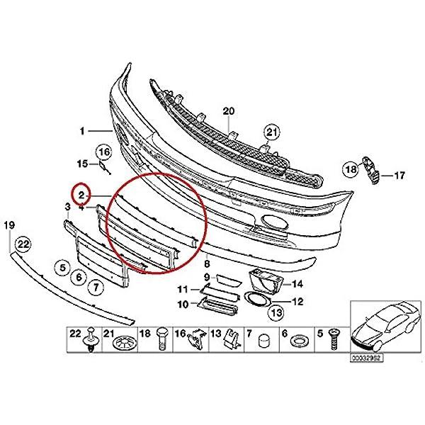 NEW FRONT PASSENGER RIGHT BUMPER IMPACT STRIP FITS 2001-2005 BMW 325I BM1047122