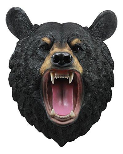 Ebros Large Roaring Black Bear Taxidermy Wall Decor 15.5