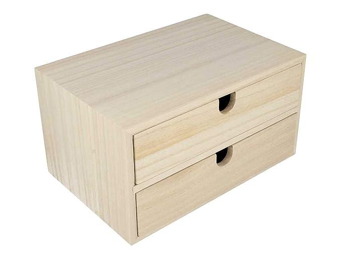 Amazon.com: Artemio Solid Wood Unit Drawers, 24 x 16 x 13.3cm, Beige ...