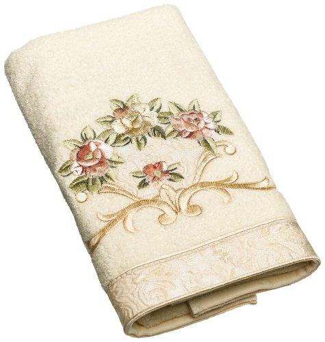 Avanti Linens Rosefan Hand Towel, Ivory