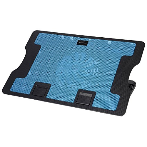 STORITE Technotech Super Silent Premier Quality 638 B High Cooling Pad With 1 Big Fan At 1200RPM,2 USB Ports,Fan Control Button & 1 USB Cable For All Notebooks/Upto 17'' Laptops/All Tablet (Blue) by Storite