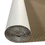 12 feet x 36' White Single-face Corrugated B Flute Cardboard Roll.