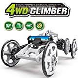 WomToy 4WD Car Toy Assembly Kit, Four-Wheel Drive DIY Climbing Vehicle Electric Off-Road