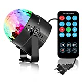 SUKEY Party Lights Disco Ball Sound Activated Disco lights Party Light 3W LED Strobe Light with Remote Control for Bar Club DJ Karaoke Wedding Show Birthday Decoration